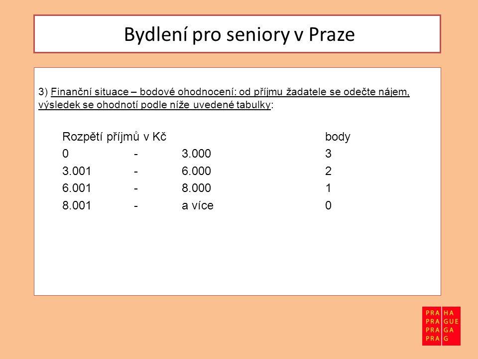 Bydlení pro seniory v Praze Počet bytů Byty v převedených bývalých penzionech pro seniory slouží i nadále výhradně pro bydlení seniorů.