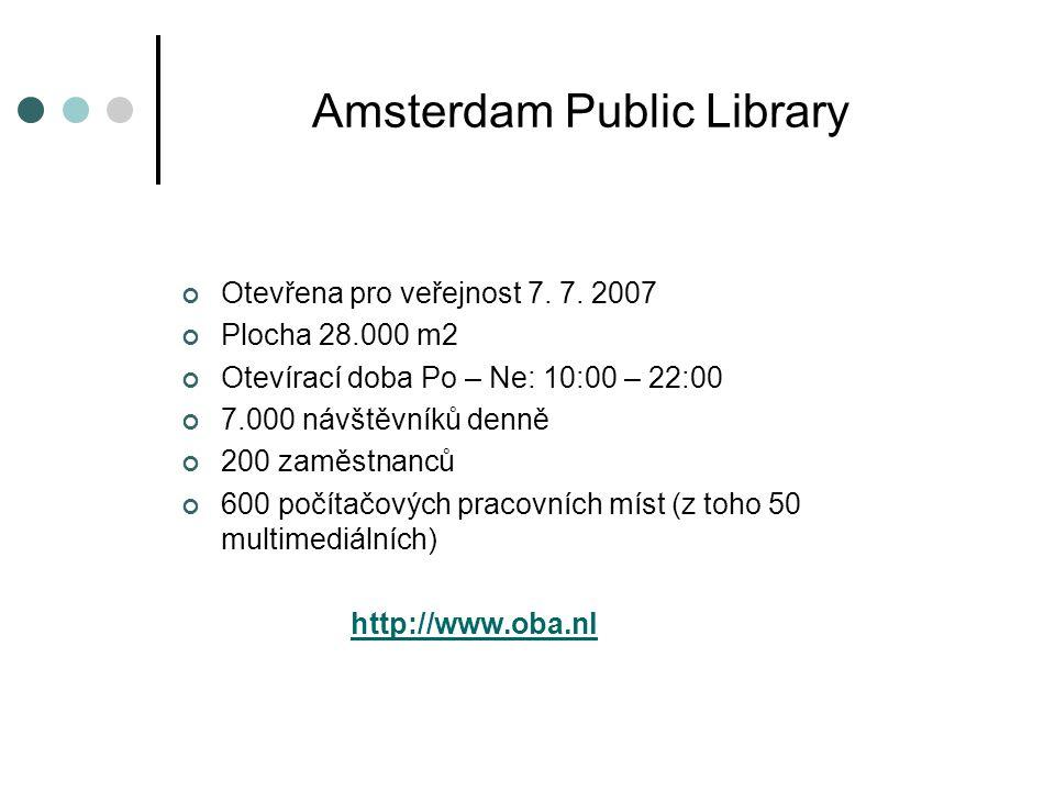Amsterdam Public Library Otevřena pro veřejnost 7.