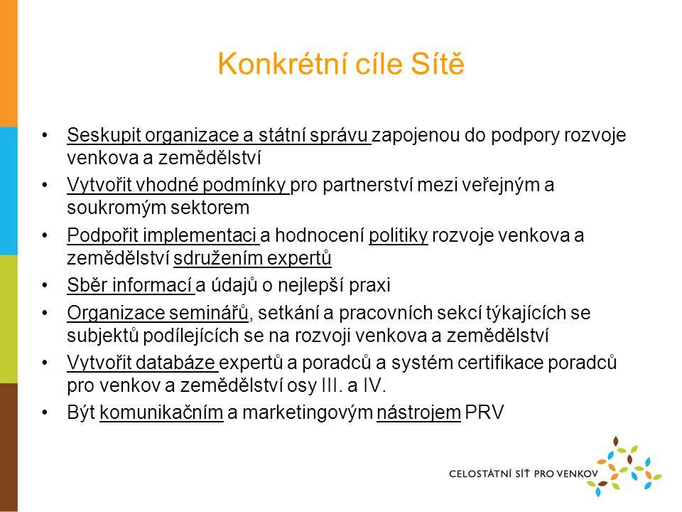 Nástroje, kterým jsou implementovány cíle Sítě •Nástroj č.