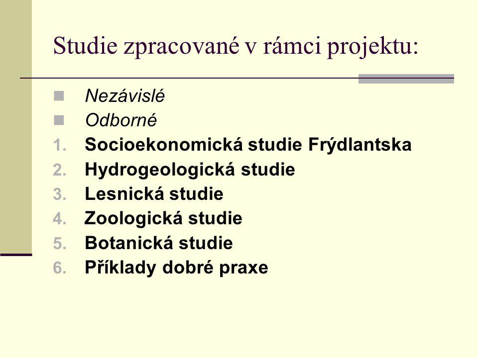 Studie zpracované v rámci projektu:  Nezávislé  Odborné 1.