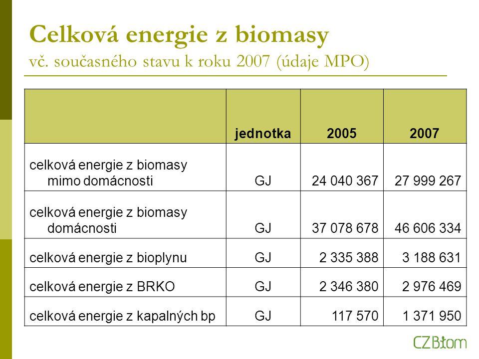 Celková energie z biomasy vč.
