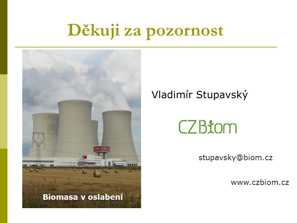 Děkuji za pozornost Biomasa v oslabení Vladimír Stupavský stupavsky@biom.cz www.czbiom.cz
