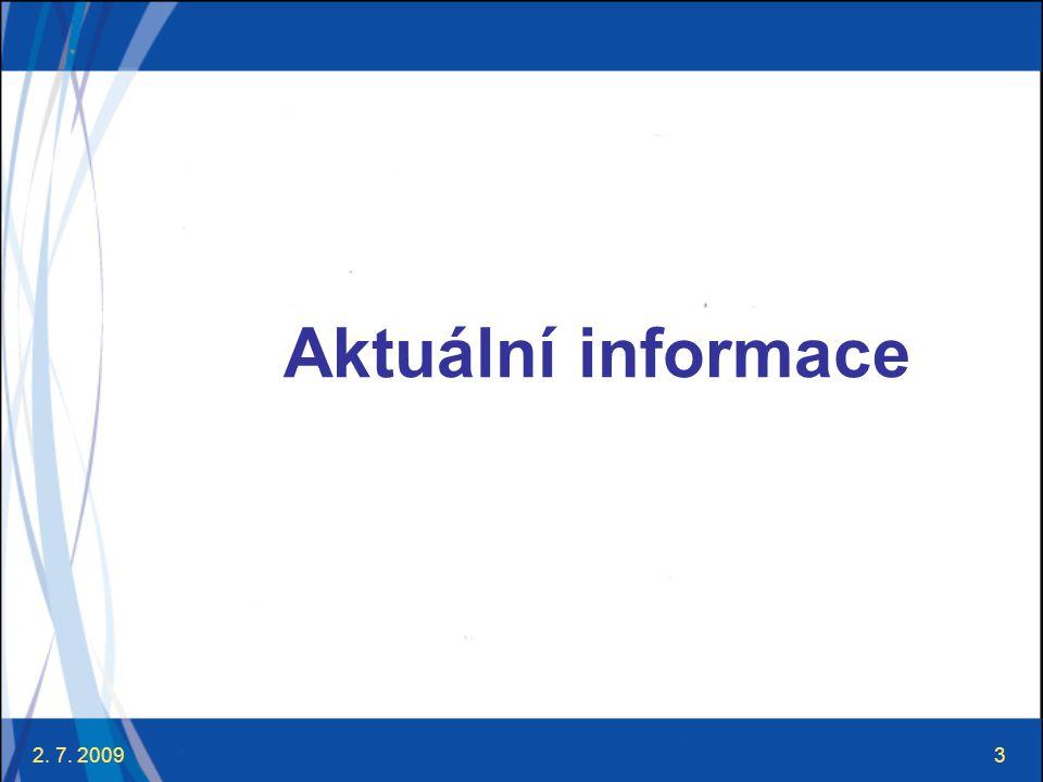 2.7. 20094 Aktuální informace ⋐ 27. 3.