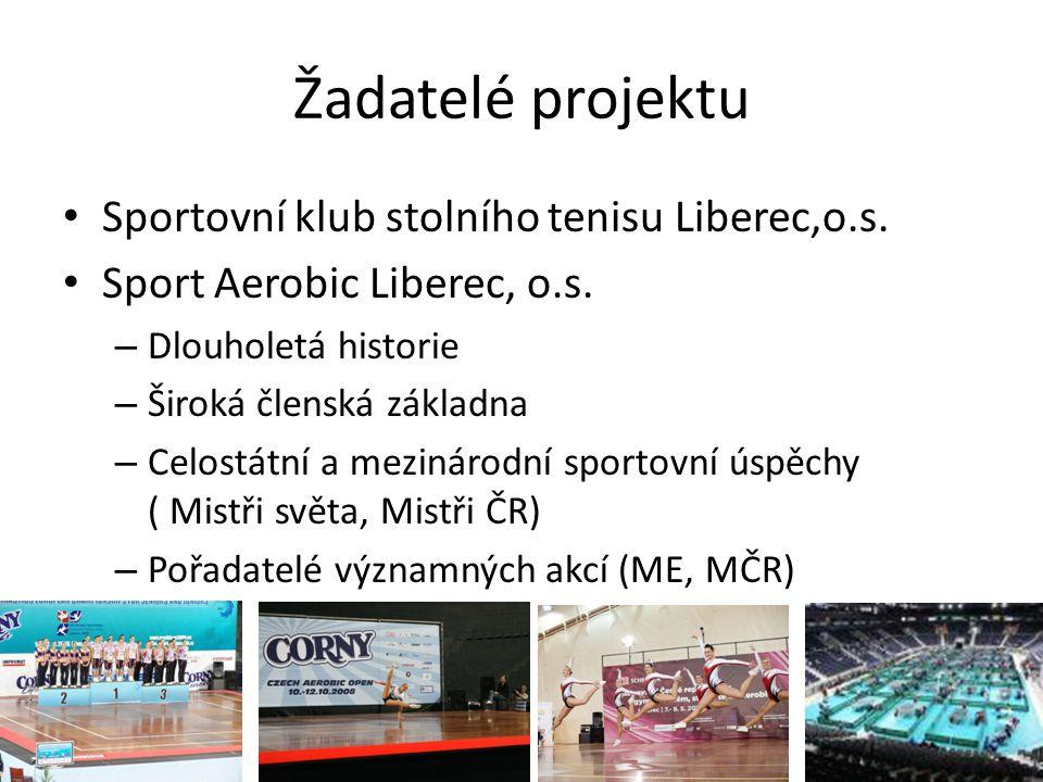 Žadatelé projektu • Sportovní klub stolního tenisu Liberec,o.s.