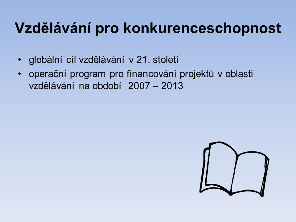 Vzdělávání pro konkurenceschopnost •globální cíl vzdělávání v 21.