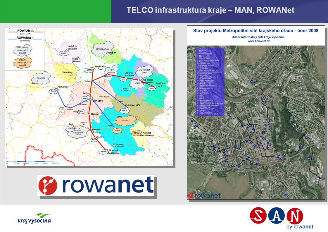 TELCO infrastruktura kraje – MAN, ROWANet