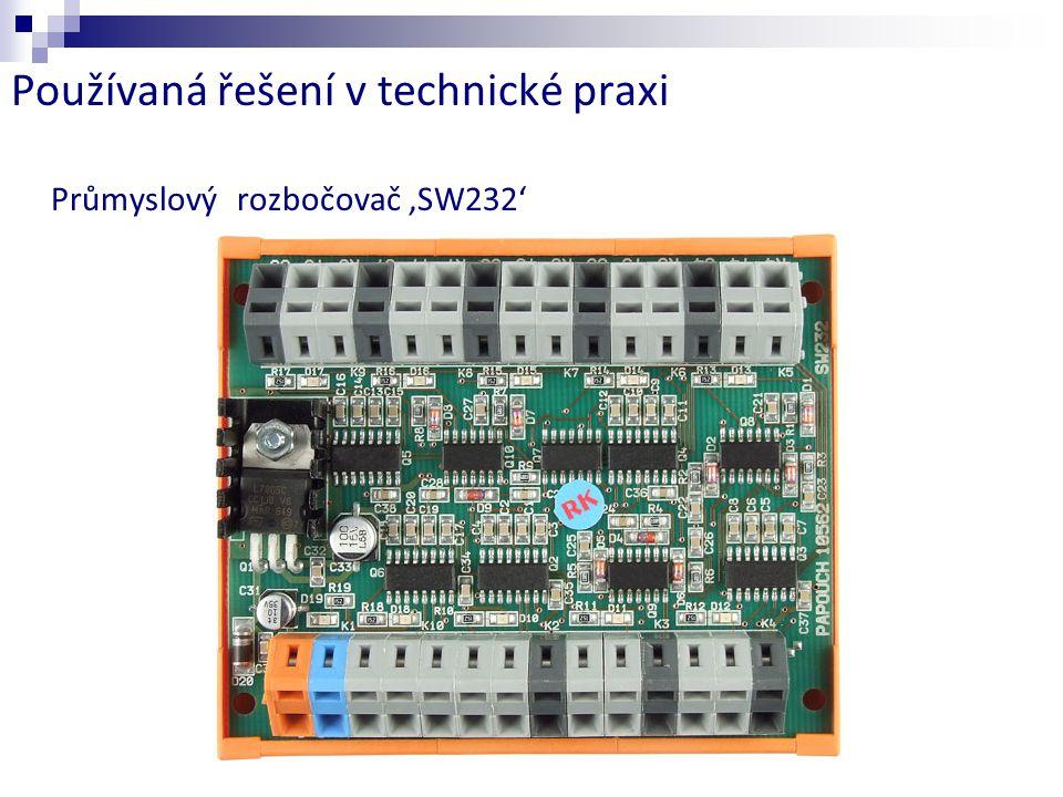 Používaná řešení v technické praxi Průmyslový rozbočovač 'SW232'