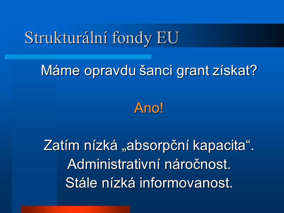 Strukturální fondy EU Máme opravdu šanci grant získat.