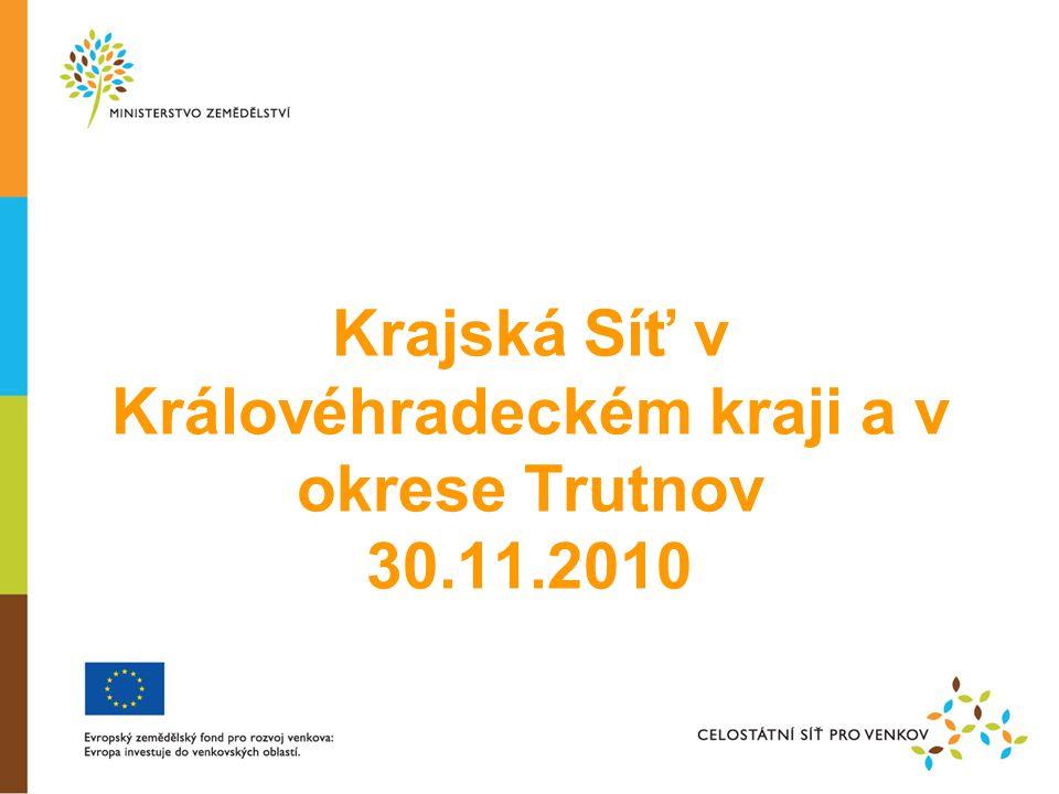 Krajská Síť v Královéhradeckém kraji a v okrese Trutnov 30.11.2010