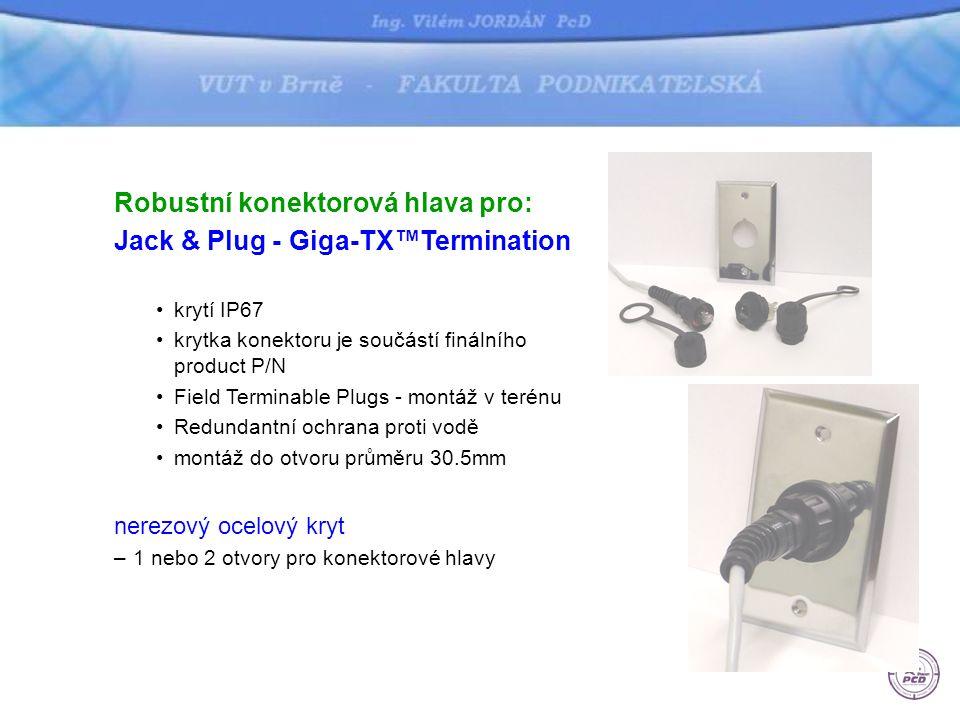 Pr ůmyslový rozvaděč •krytí IP66 nebo IP54 •KIT - ventilátor s filtrem •průmyslový zdroj, masivní konektorové hlavy, interní patch cordy pro porty switche, uplink pro FO nebo UTP, bezpečnostní zámek, DIN lišta •průchod kabelů dle standardu NEMA 30.5mm