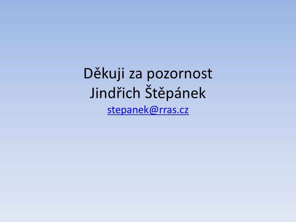 Děkuji za pozornost Jindřich Štěpánek stepanek@rras.cz stepanek@rras.cz