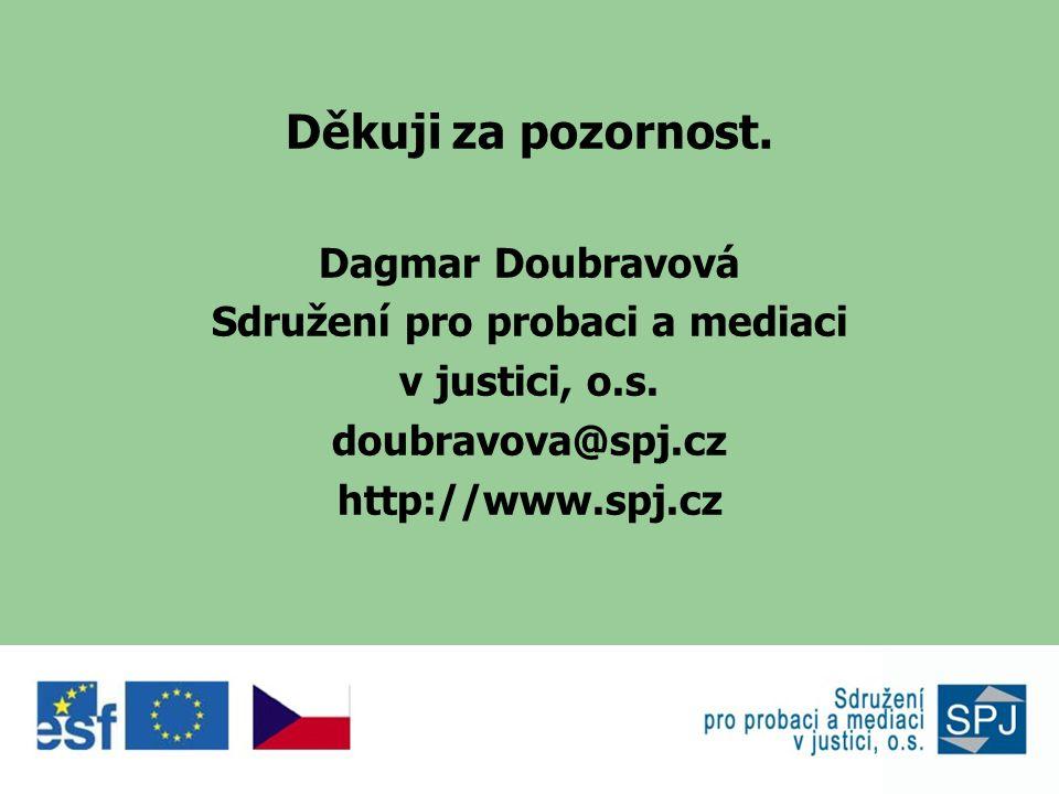 Děkuji za pozornost. Dagmar Doubravová Sdružení pro probaci a mediaci v justici, o.s.