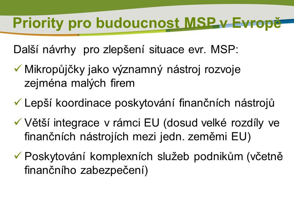 Další návrhy pro zlepšení situace evr.
