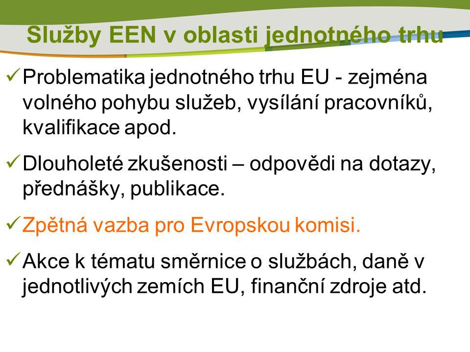  Problematika jednotného trhu EU - zejména volného pohybu služeb, vysílání pracovníků, kvalifikace apod.