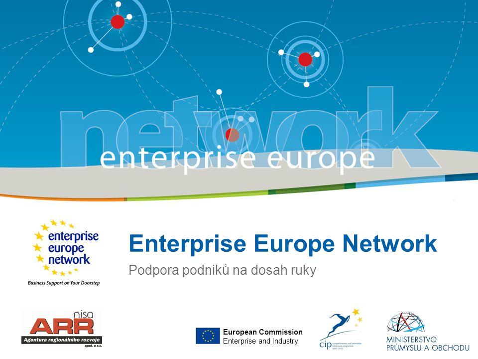 Title of the presentation   Date  ‹#› Základní informace o síti •Evropská síť, jejímž hlavním cílem je podpora rozvoje malého a středního podnikání •Aktivity sítě byly oficiálně zahájeny v únoru 2008 •Iniciativa Evropské komise •Zdroje financování:  Evropský komunitární program CIP (Rámcový program pro konkurenceschopnost a inovace, výzva – služby na podporu podnikání a inovací prostřednictvím vytvoření jednotné sítě)  Ministerstvo průmyslu a obchodu ČR (pro léta 2008 – 2013).