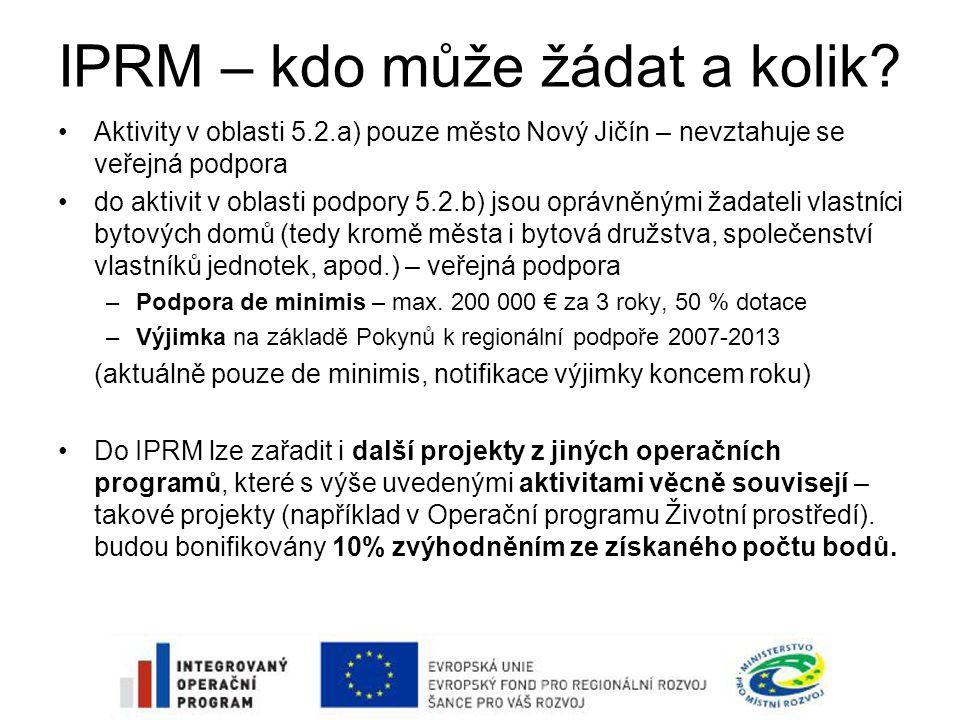IPRM – kdo může žádat a kolik.
