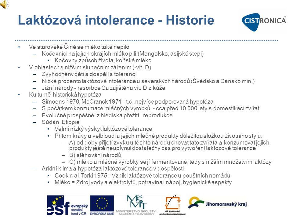 Laktózová intolerance - Epidemiologie Intolerance laktózy •Přes 50 mil.