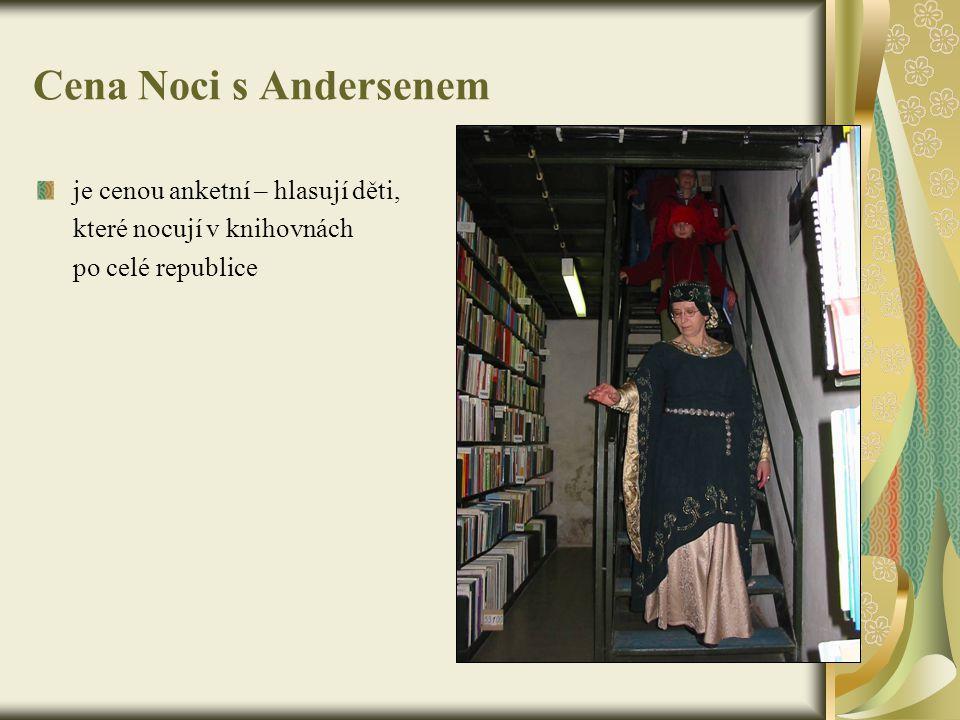 Cena Noci s Andersenem je cenou anketní – hlasují děti, které nocují v knihovnách po celé republice