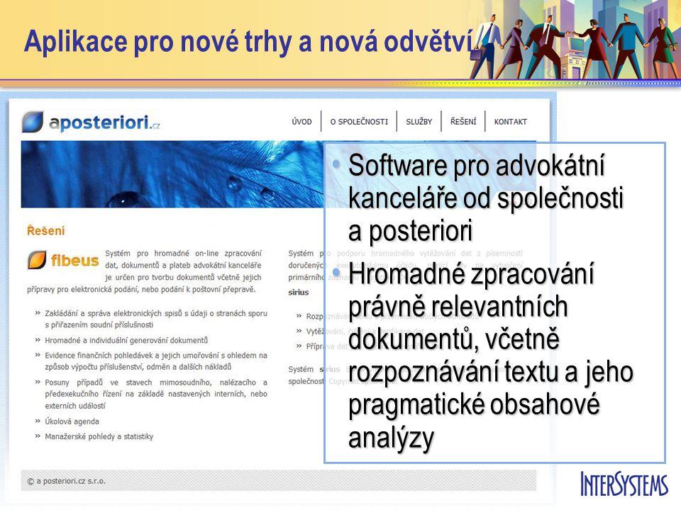 • Software pro advokátní kanceláře od společnosti a posteriori • Hromadné zpracování právně relevantních dokumentů, včetně rozpoznávání textu a jeho pragmatické obsahové analýzy