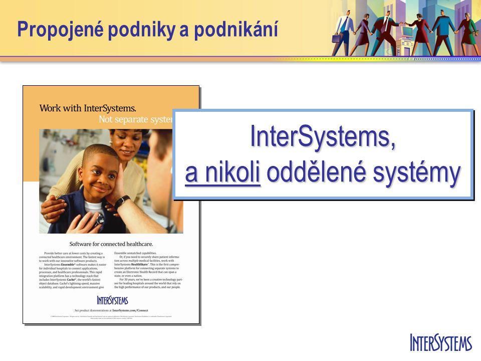 Propojené podniky a podnikání InterSystems, a nikoli oddělené systémy