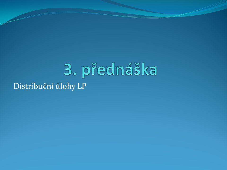 Distribuční úlohy LP