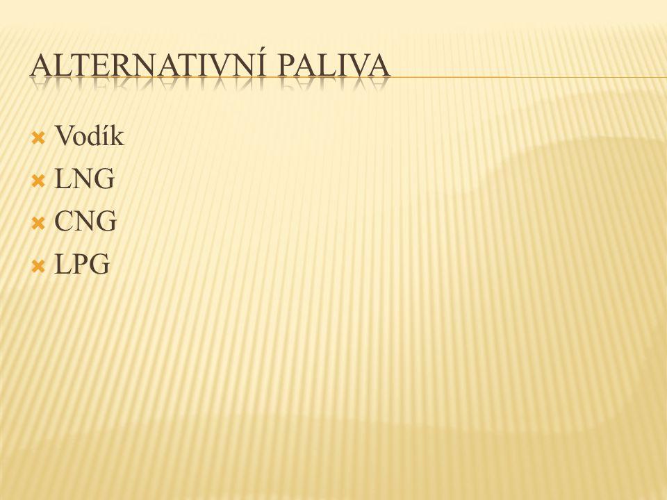  Vodík  LNG  CNG  LPG