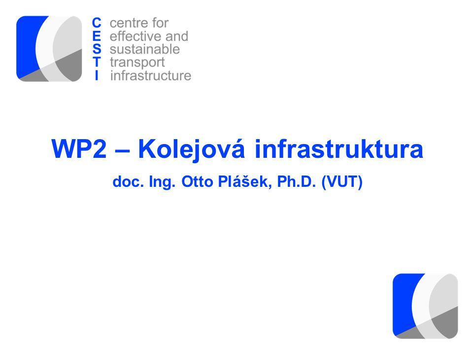 WP2 – Kolejová infrastruktura doc. Ing. Otto Plášek, Ph.D. (VUT)
