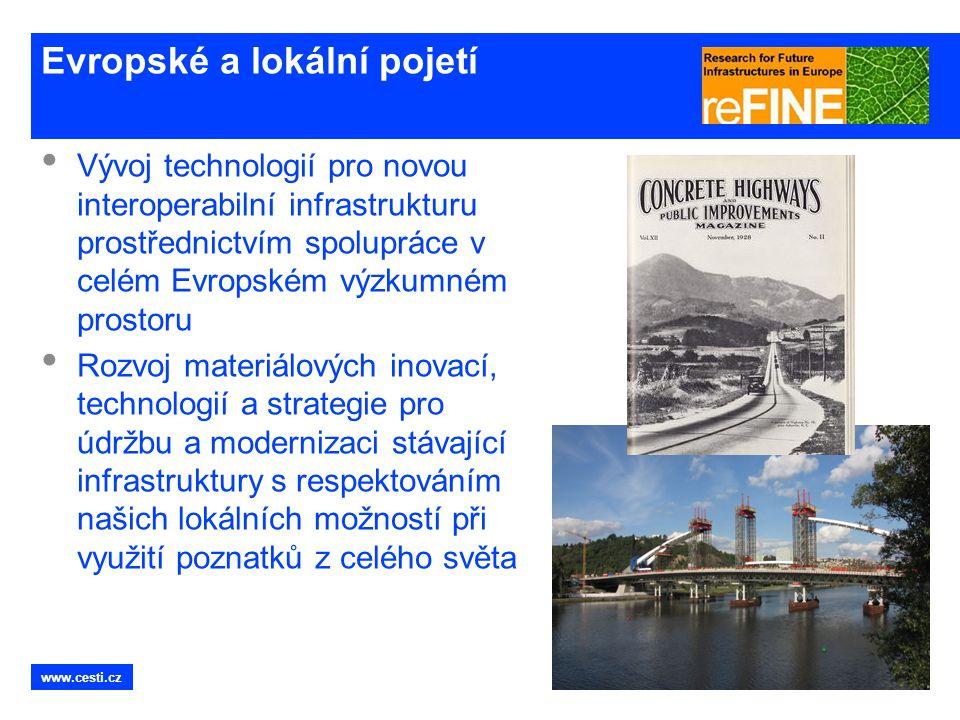 www.cesti.cz Evropské a lokální pojetí • Vývoj technologií pro novou interoperabilní infrastrukturu prostřednictvím spolupráce v celém Evropském výzku