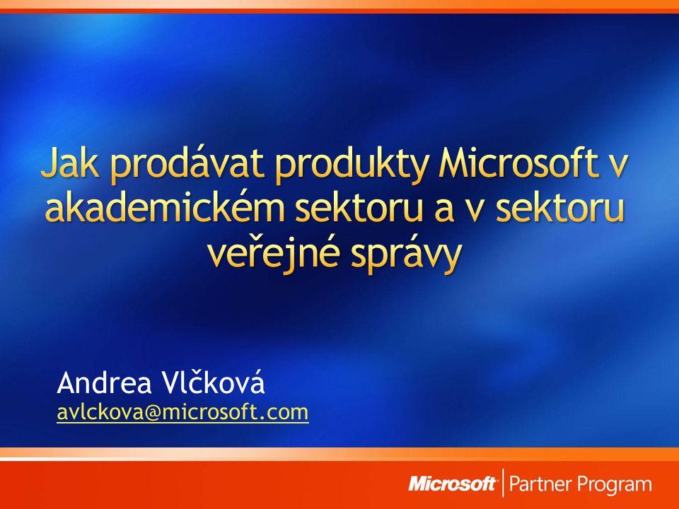 Andrea Vlčková avlckova@microsoft.com