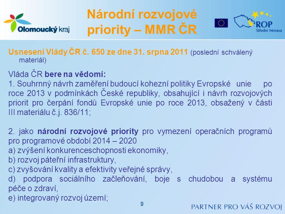 Usnesení Vlády ČR č.650 ze dne 31.