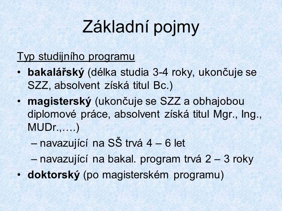 Studijní programy a obory •Akreditaci stud.