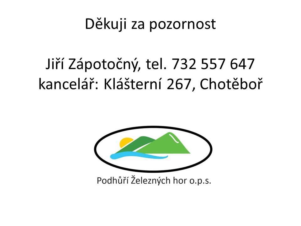 Děkuji za pozornost Jiří Zápotočný, tel. 732 557 647 kancelář: Klášterní 267, Chotěboř