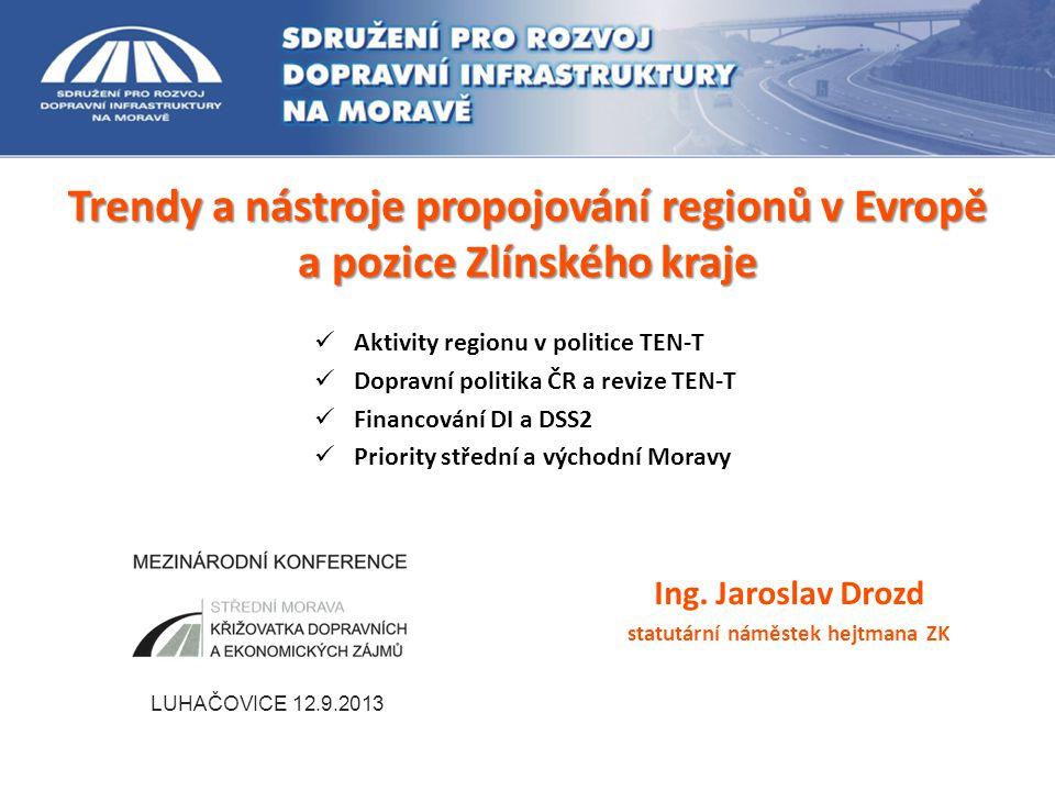 Silniční a dálniční síť ZK 12