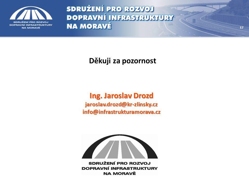 Ing. Jaroslav Drozd jaroslav.drozd@kr-zlinsky.czinfo@infrastrukturamorava.cz Děkuji za pozornost 17