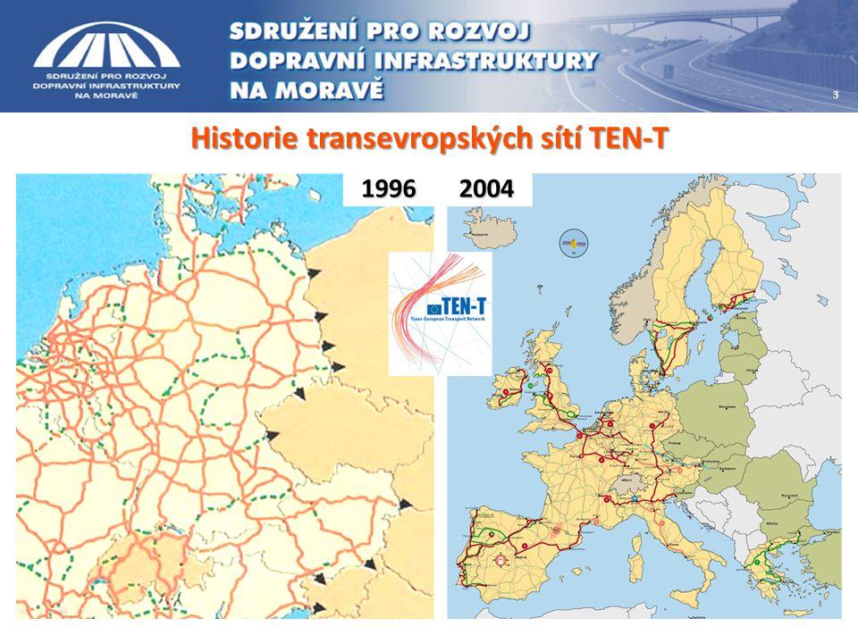 Aktivity regionu v politice TEN-T Rekapitulace jednání o prioritách regionu v oblasti transevropských sítí: -13.