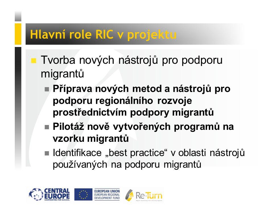  Tvorba nových nástrojů pro podporu migrantů n Příprava nových metod a nástrojů pro podporu regionálního rozvoje prostřednictvím podpory migrantů n P
