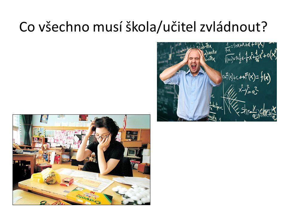 Co všechno musí škola/učitel zvládnout?