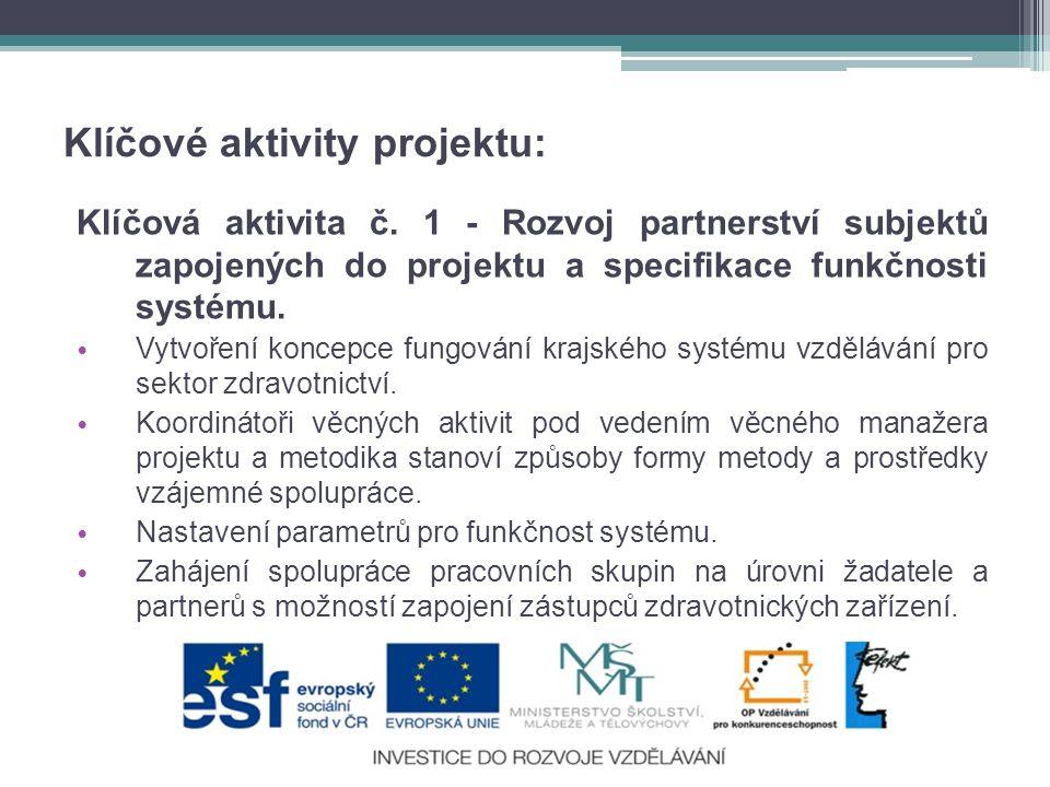 Klíčové aktivity projektu: Klíčová aktivita č.