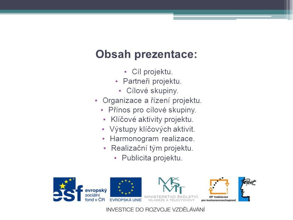 Obsah prezentace: • Cíl projektu.• Partneři projektu.
