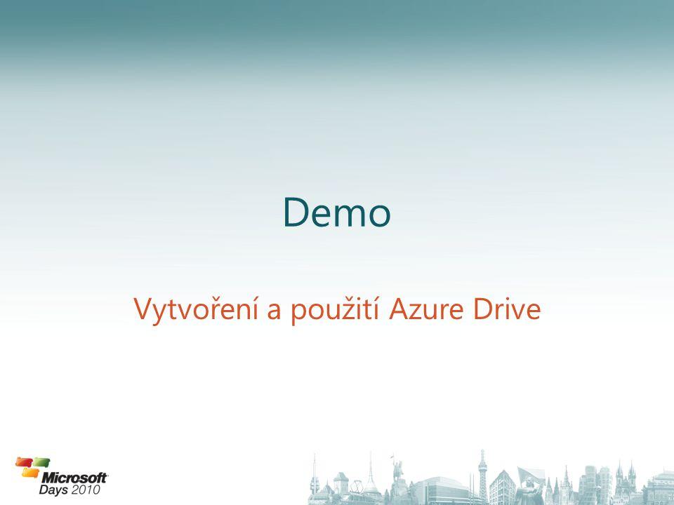 Demo Vytvoření a použití Azure Drive