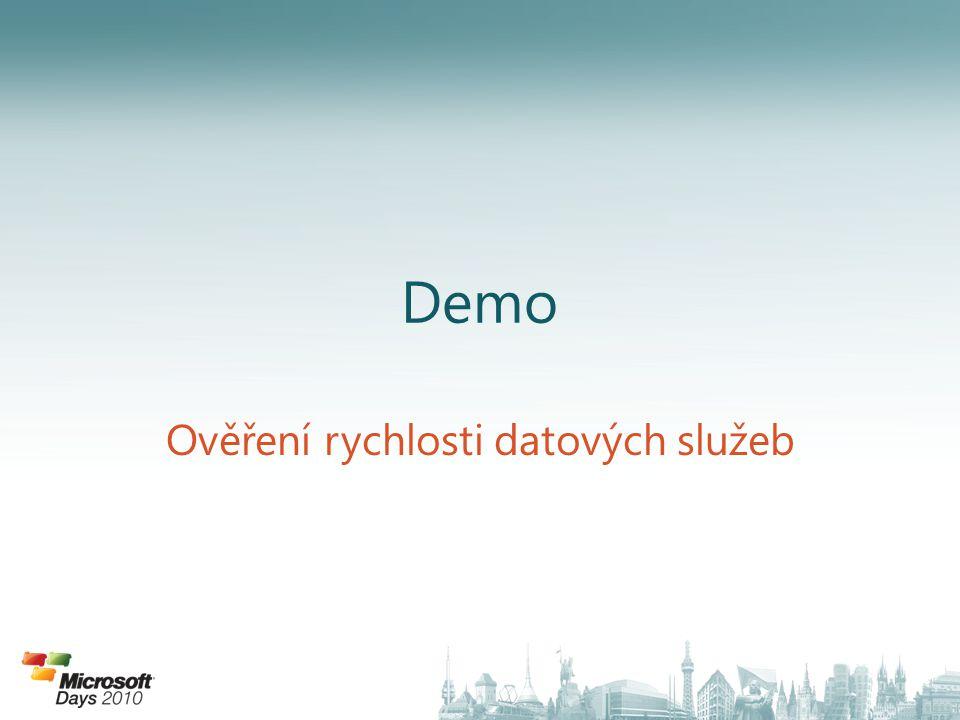 Demo Ověření rychlosti datových služeb