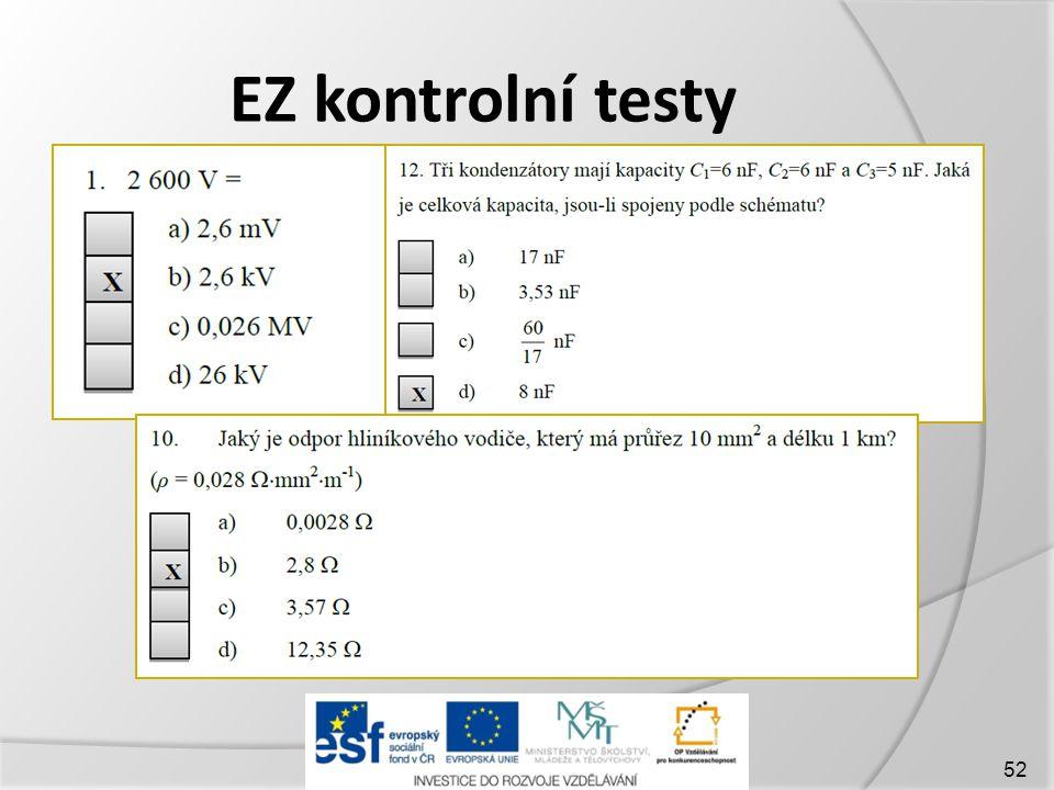 EZ kontrolní testy 52