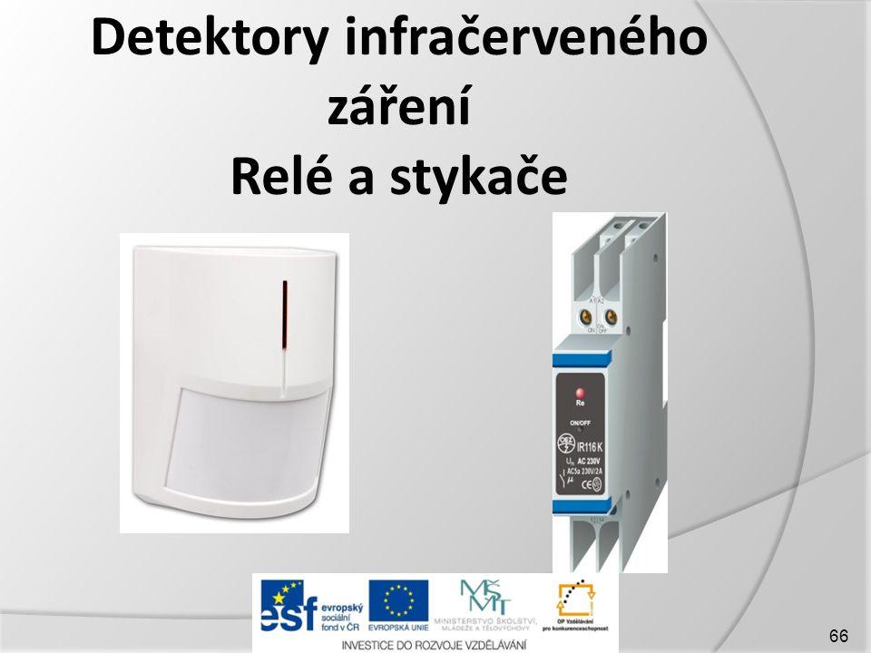 Detektory infračerveného záření Relé a stykače 66