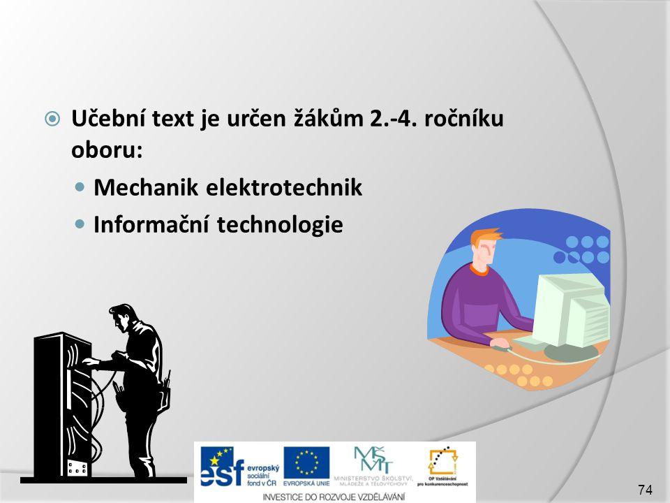  Učební text je určen žákům 2.-4.