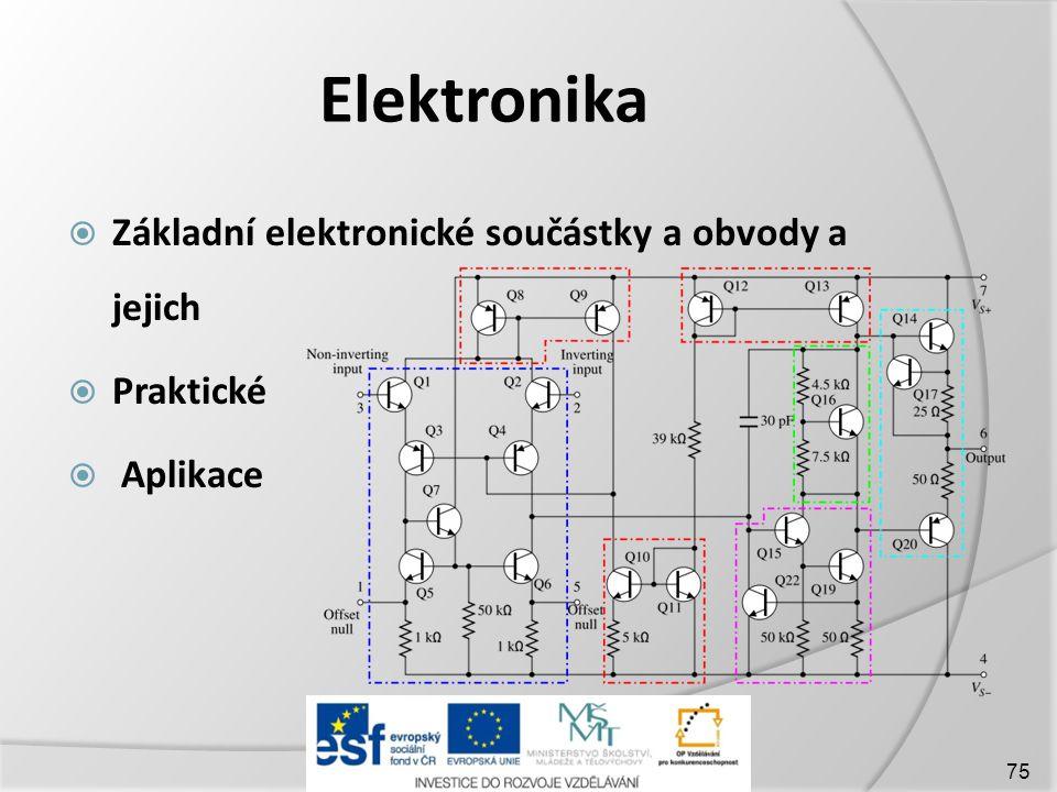 Elektronika  Základní elektronické součástky a obvody a jejich  Praktické  Aplikace 75