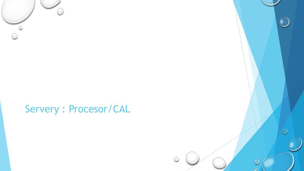 Servery : Procesor/CAL