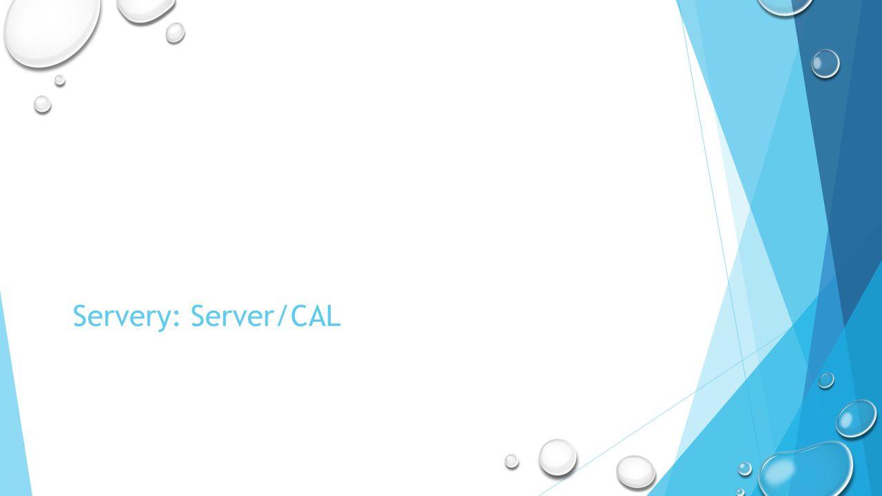 Servery: Server/CAL