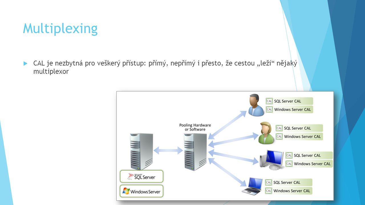 Nástroje Pro Vývojáře  práva k instalaci a užívací práva  licence pouze na uživatele  uživatel může software provozovat na libovolném počtu zařízení v libovolném počtu OSE  Software smí být užíván výhradně k testování před nasazením a k návrhu, vývoji, testování a předvádění vlastních aplikací a programů  programy, které jsou součástí softwaru Microsoft  další licenční požadavky anebo užívací práva  testování uživateli – pro MSDN koncoví uživatelé mohou přistupovat k softwaru za účelem provádění akceptačních testů vašich programů  200 RDS souběžných přístupů – předvádění softwaru