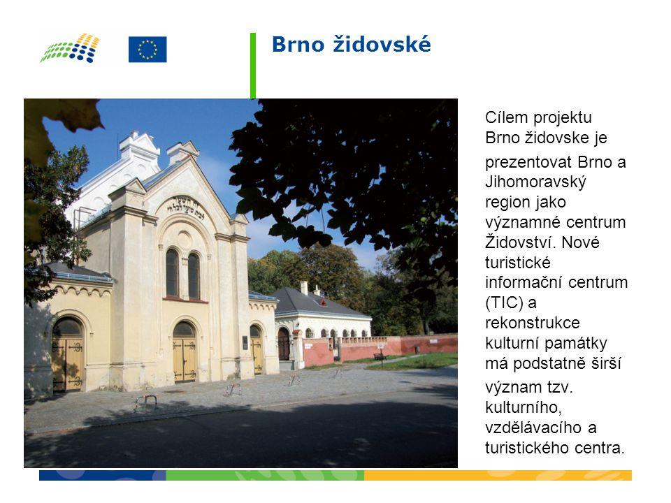 Cílem projektu Brno židovske je prezentovat Brno a Jihomoravský region jako významné centrum Židovství.