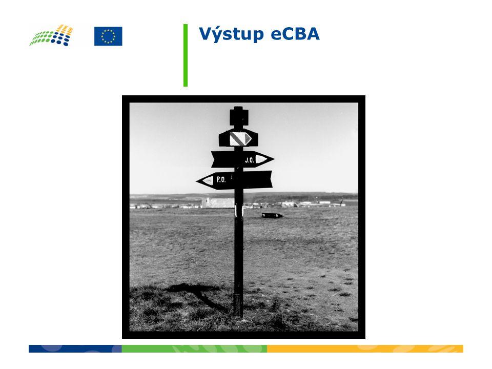 Výstup eCBA